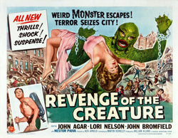 Revenge of the Creature - 50s B-Movie Classic - A4 Vintage Print B
