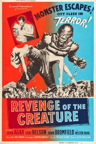 Revenge of the Creature - 50s B-Movie Classic - A4 Vintage Print C