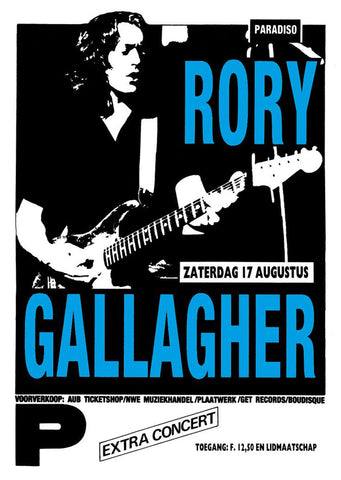 Rory Gallagher - Paradiso - A4 Mini Print