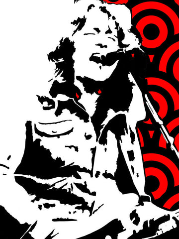 Rory Gallagher - Red - A4 Mini Print
