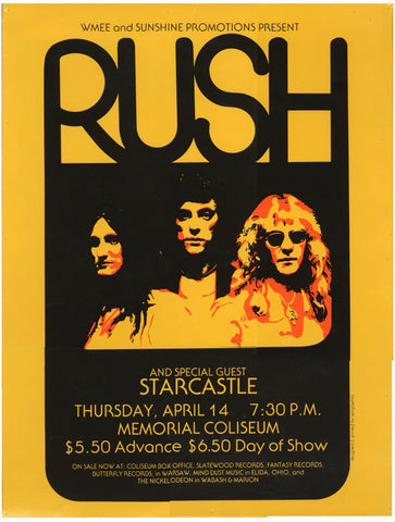 Rush - Memorial Colliseum - A4 Music Mini Print