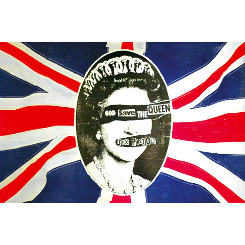 Sex Pistols - God Save The Queen - Textile Flag