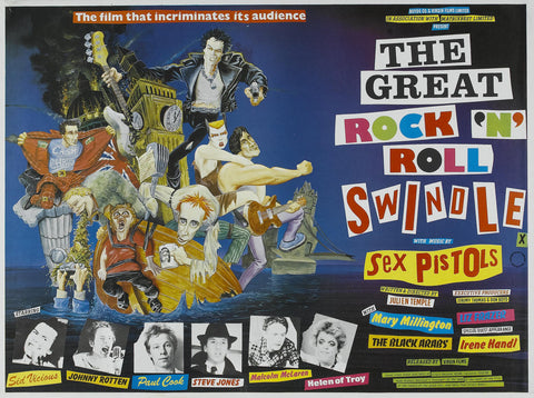 Sex Pistols - The Great Rock 'n' Roll Swindle - A4 Music Mini Print
