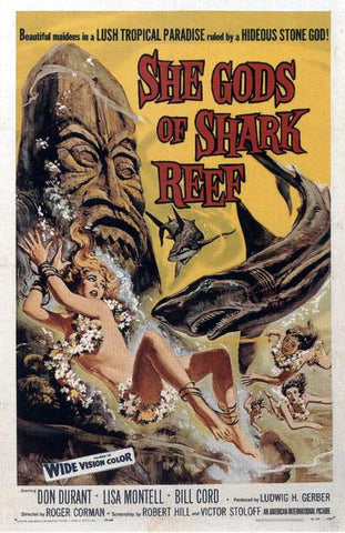 She Gods of Shark Reef - 50s B-Movie Classic - A4 Vintage Print A