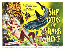 She Gods of Shark Reef - 50s B-Movie Classic - A4 Vintage Print B