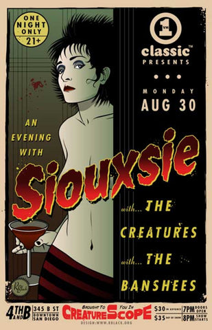 Siouxsie and the Banshees - Siouxsie Sioux - An Evening with Siouxsie - A4 Music Mini Print