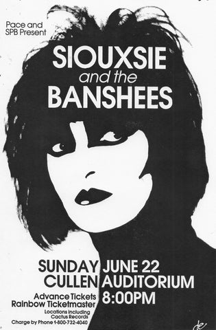 Siouxsie and the Banshees - Cullen Auditorium - A4 Music Mini Print