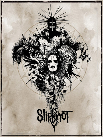 Slipknot - Greetings from Hell - A4 Music Mini Print