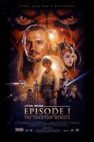Star Wars - Episode I - The Phantom Menace - A4 Movie Mini Print