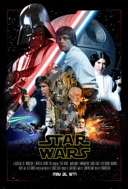 Star Wars - Episode IV - A New Hope - A4 Movie Mini Print C