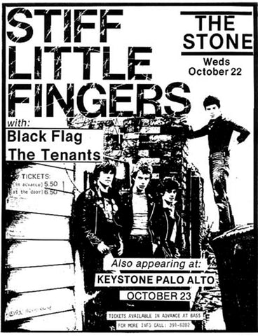 Stiff Little Fingers - SLF - The Stone - A4 Music Mini Print