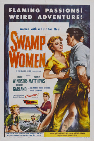 Swamp Women - 50s B-Movie Classic - A4 Vintage Print A