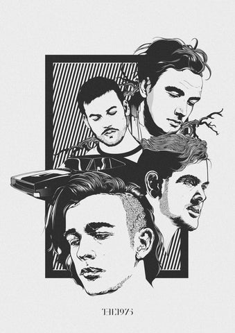 The 1975 - Group - A4 Music Mini Print