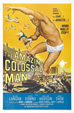 The Amazing Colossal Man - 50s B-Movie Classic - A4 Vintage Print A