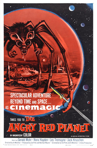 The Angry Red Planet - 50s B-Movie Classic - A4 Vintage Print