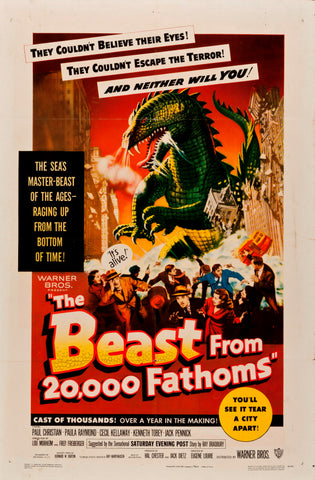 The Beast from 20000 Fathoms - 50s B-Movie Classic - A4 Vintage Print A