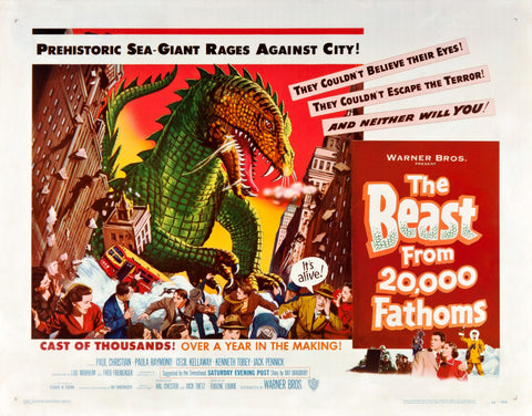 The Beast from 20000 Fathoms - 50s B-Movie Classic - A4 Vintage Print B