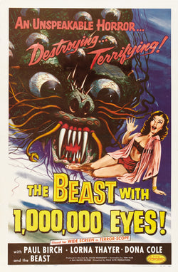 The Beast with a Million Eyes - 50s B-Movie Classic - A4 Vintage Print B