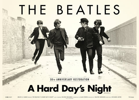 The Beatles - A Hard Day's Night - 50th Anniversary - A4 Music Mini Print