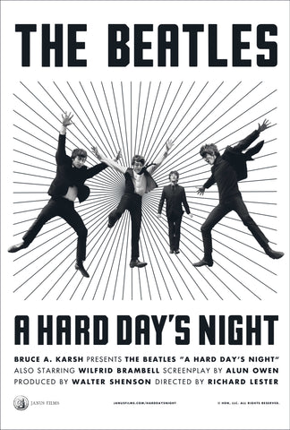 The Beatles - A Hard Day's Night - A4 Music Mini Print D