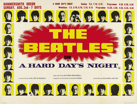 The Beatles - A Hard Day's Night - A4 Music Mini Print E