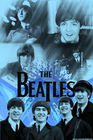 The Beatles - Blue - A4 Music Mini Print