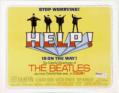 The Beatles - Help - A4 Music Mini Print B