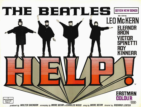 The Beatles - Help - A4 Music Mini Print C