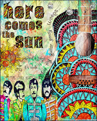The Beatles - Here Comes the Sun - A4 Music Mini Print