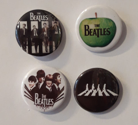 The Beatles - Set of 4 Badges B