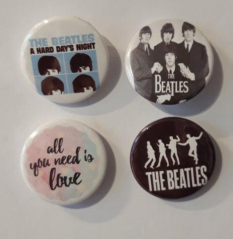 The Beatles - Set of 4 Badges C