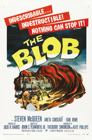 The Blob - 50s B-Movie Classic - 50s B-Movie Classic - A4 Vintage Print A