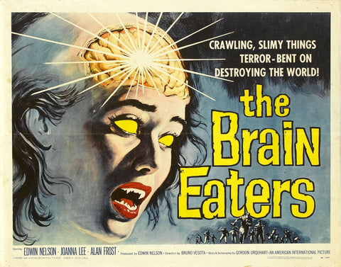 The Brain Eaters - 50s B-Movie Classic - 50s B-Movie Classic - A4 Vintage Print B