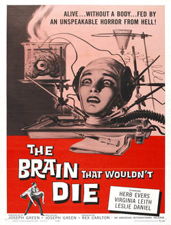 The Brain that Wouldn't Die - 50s B-Movie Classic - 50s B-Movie Classic - A4 Vintage Print