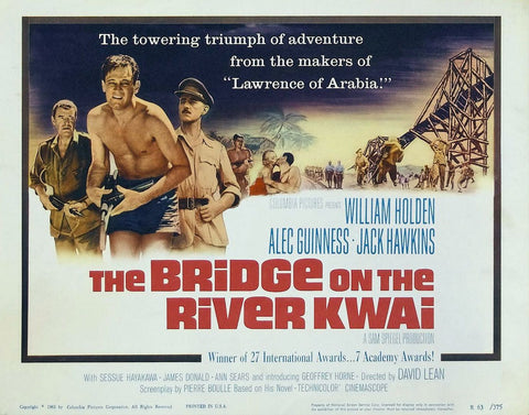 The Bridge on the River Kwai - Alec Guinness - Vintage Movie Print A