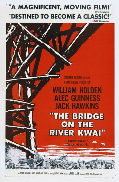 The Bridge on the River Kwai - Alec Guinness - Vintage Movie Print B