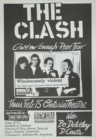 The Clash - Give Em Enough Rope Tour - Ontario Theatre - A4 Music Mini Print
