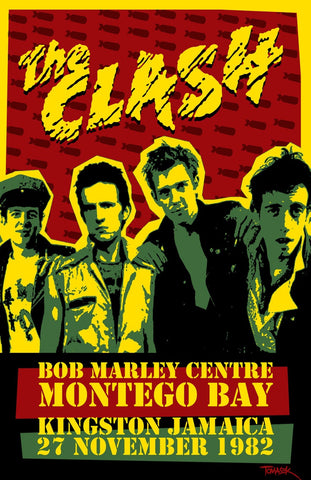 The Clash - Jamaica 1982 - A4 Music Mini Print