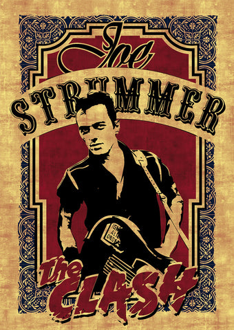 The Clash - Joe Strummer - A4 Music Mini Print