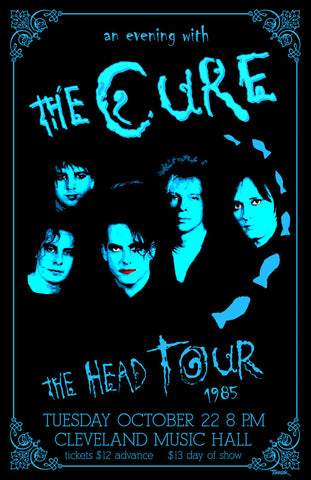 The Cure - The Head Tour 1985 - A4 Music Mini Print