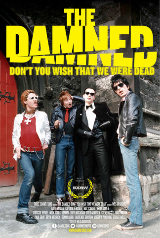 The Damned - Don't You Wish That We Were Dead - A4 Music Mini Print