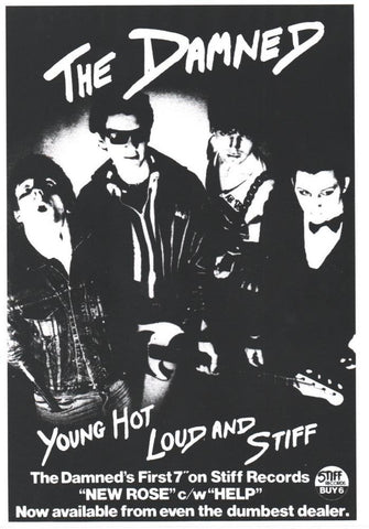 The Damned - Young Hot Loud and Stiff - A4 Music Mini Print