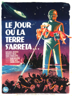 The Day the Earth Stood Still - 50s B-Movie Classic - A4 Vintage French Print A