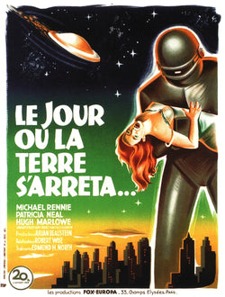 The Day the Earth Stood Still - 50s B-Movie Classic - A4 Vintage French Print B