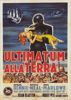 The Day the Earth Stood Still - 50s B-Movie Classic - A4 Vintage Italian Print
