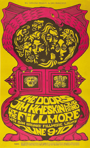 The Doors - Fillmore San Francisco - A4 Music Mini Print A