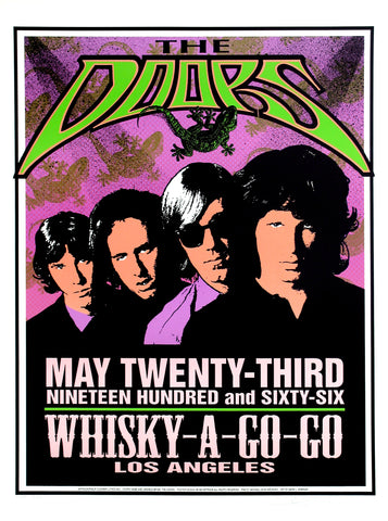 The Doors - Whiskey a Go Go - Los Angeles 1966 - A4 Music Mini Print