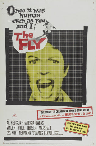 The Fly - 50s B-Movie Classic - A4 Vintage Print A
