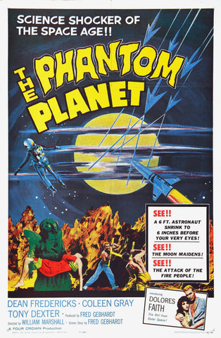 The Phantom Planet - 50s B-Movie Classic - A4 Vintage Print A