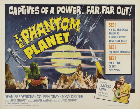 The Phantom Planet - 50s B-Movie Classic - A4 Vintage Print B